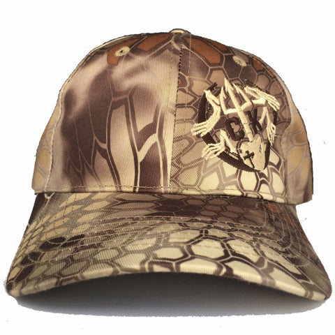 Legend - Brush Frog Adjustable Kryptek Highlander Hat - Tan