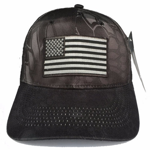 Legend - Flag Adjustable Kryptek Hat - Black