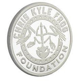 Limited Edition Proof .999 Pure One Ounce Chris Kyle Frog Foundation Silver Commemorative (American Flag) Fine Silver Coin