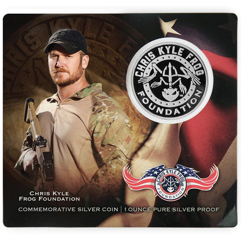 Limited Edition .999 Pure One Ounce Chris Kyle Frog Foundation Proof Silver Commemorative Silver Coin Collectible