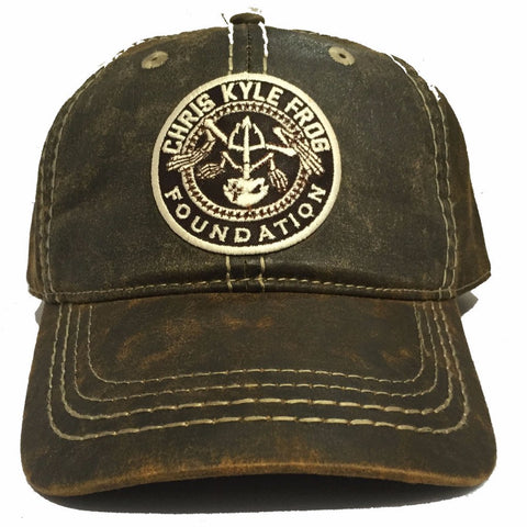 CKFF - Adjustable Leather Hat - Brown