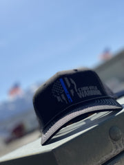 BIG BLUE WARRIOR SnapBack Hat - Heather Grey/Black Hat Chris Kyle Frog Store