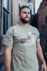 CKFF Men's Patriot T-Shirt - Tan T-shirt Chris Kyle Frog Store