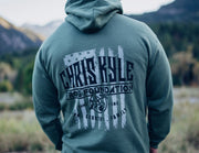 CKFF Stars and Stripes HOODIE - Military Green Hoodie Chris Kyle Frog Store