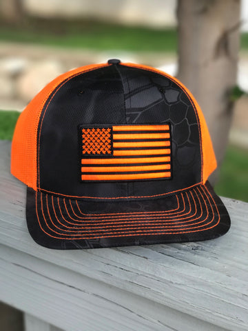 Mesh Kryptek Snap Back - Flag - Typhon/Orange