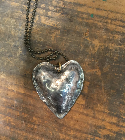 Rustic Style Puffy Heart