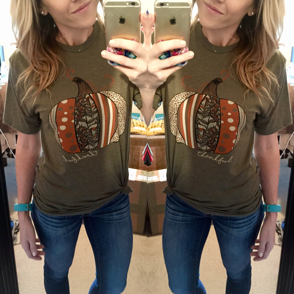 Pumpkin Patch Tee - Olive