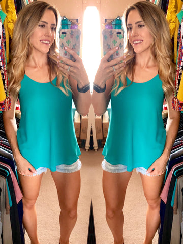 The Evangeline Tank - Sea Green