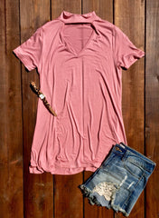 Basic Perfection Top - Mauve