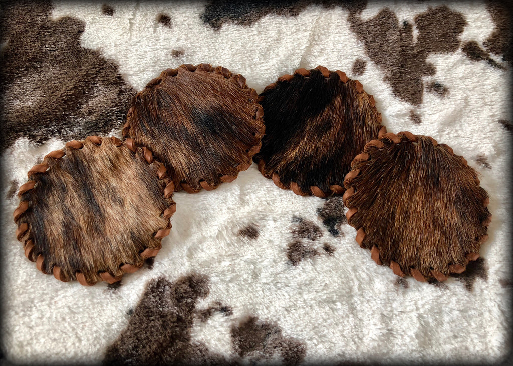 Cowhide Coasters - Set of 4