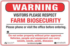 Biosecurity Safety Signs and Stickers