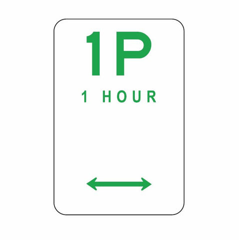 ACT ONLY Parking Series - 1 Hour Parking ACTR5-1 300 x 450 Road Sign
