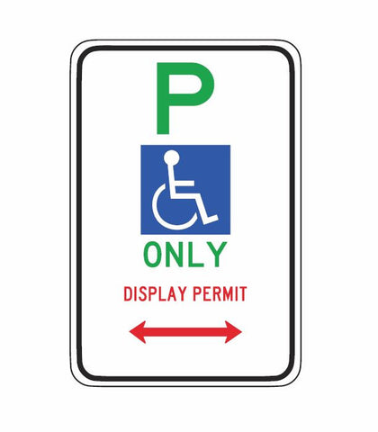 ACT ONLY Disabled Parking Only Display Permit ACTR5-22/1 Road Sign