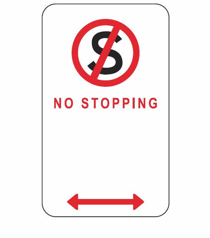 ACT ONLY No Stopping ACTR5-35 300 x 450 Road Sign