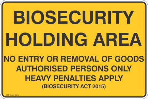 Biosecurity Holding Area Safety Signs and Stickers
