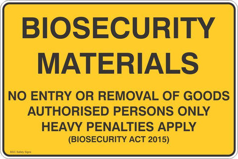 Biosecurity Materials  Safety Signs and Stickers