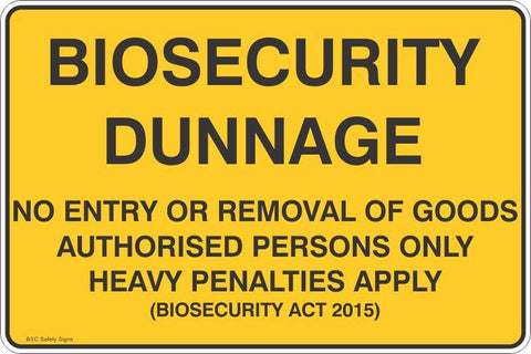Biosecurity Dunnage Safety Signs & Stickers