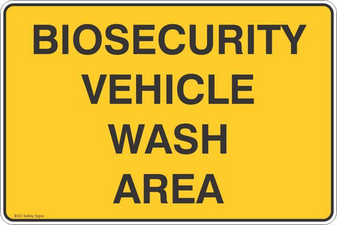 Biosecurity Vehicle Wash Area Safety Signs and Stickers