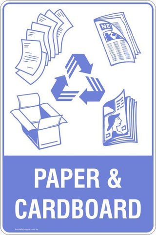 Paper & Cardboard Recycling Signs and Stickers
