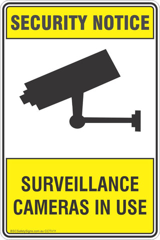Security Notice Surveillance Cameras In Use Safety Sign