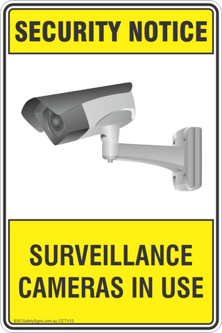 Security Notice Surveillance Cameras In Use 2 Safety Sign