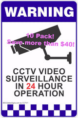 CCTV Video Surveillance Signs and Stickers