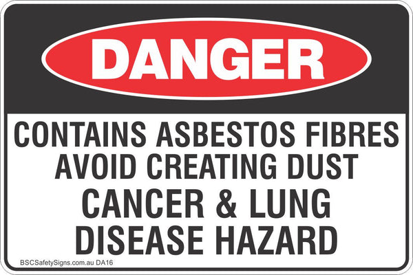 Contains Asbestos Fibres Avoid Creating Dust Cancer Amp Lung
