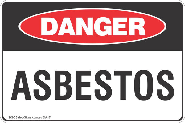 Asbestos Safety Sign Danger Safety Signs Stickers