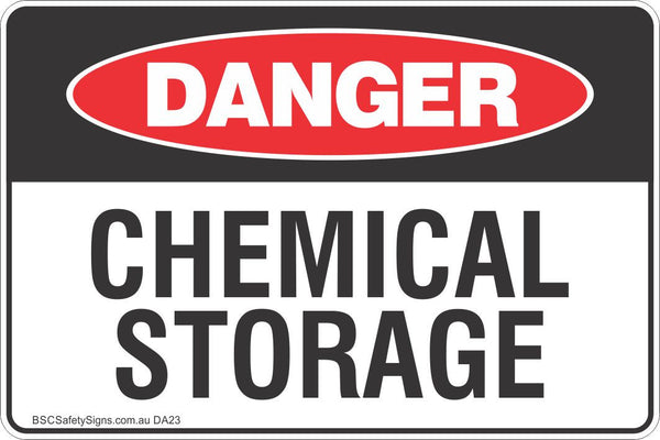 Chemical Storage Safety Sign Danger Safety Signs Stickers Safety