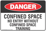 Confined Space No Entry Without Confined Space Training