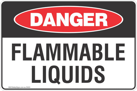 Danger Flammable Liquids Safety Signs & Stickers