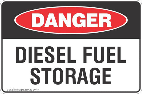 Danger Disel Fuel Storage Safety Signs and Stickers