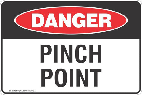 Danger Pinch Point Safety Signs and Stickers