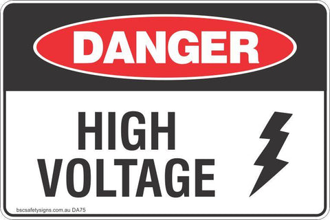 Danger High Voltage Safety Signs and Stickers