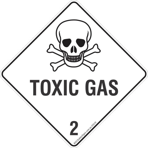Toxic Gas 2 Safety Signs & Stickers & Placards