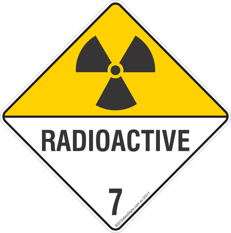 Radioactive 7 Safety Signs & Stickers & Placards