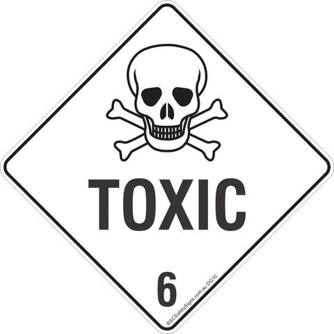 Toxic 6 Safety Signs & Stickers & Placards