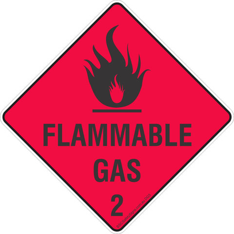 Flammable Gas 2 Safety Signs & Stickers & Placards