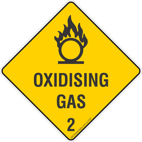 Oxidising Gas 2 Safety Signs & Stickers & Placards