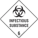 Infectious Substances 6 Safety Signs & Stickers & Placards