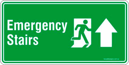 Emergency Exit Stairs Safety Signs and Stickers