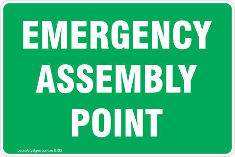 Emergency Assembly Point Safety Signs & Stickers