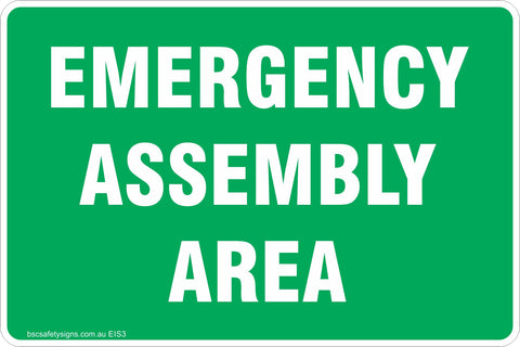 Emergency Assembly Area Safety Signs & Stickers