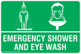 Emergency Shower And Eye Wash Safety Signs & Stickers