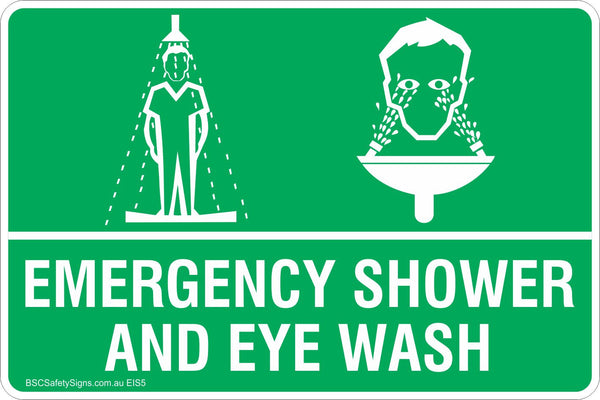 Emergency Shower And Eye Wash Safety Signs Amp Stickers