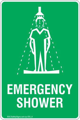 Emergency Information Emergency Shower Safety Signs and Stickers