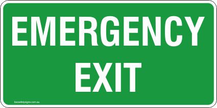 Emergency Exit Safety Signs and Stickers