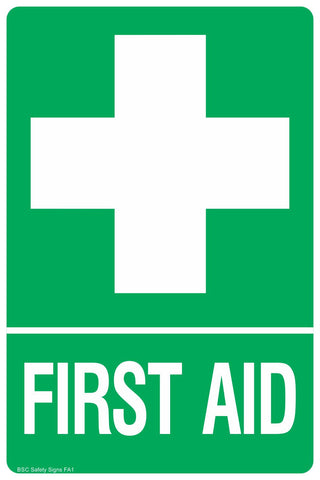 First Aid Identification Safety Sign