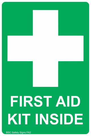 First Aid Kit Inside Safety Sign