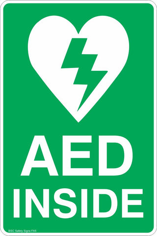 AED Inside Safety Sign